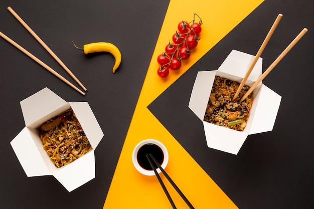 野菜と中国のファーストフード