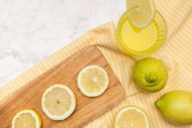 レモンのクローズアップ配置
