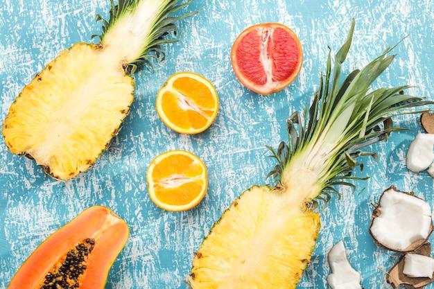 Сочный фон из фруктов