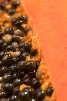 Макро вкусные семена папайи
