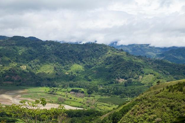 コスタリカの田舎の眺め