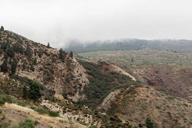 曇り空と空の丘