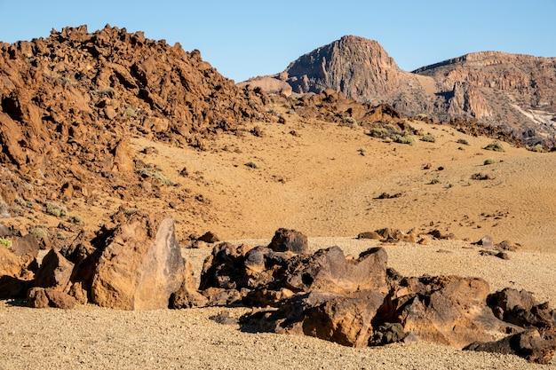 岩と熱帯の砂漠