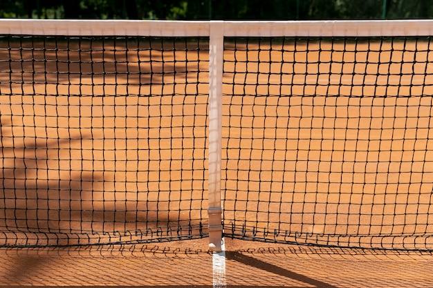クローズアップテニスネット編み