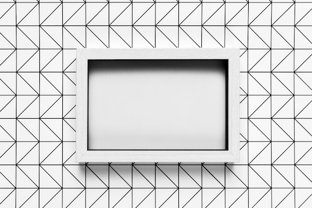 パターン背景モックアップとビンテージフレーム