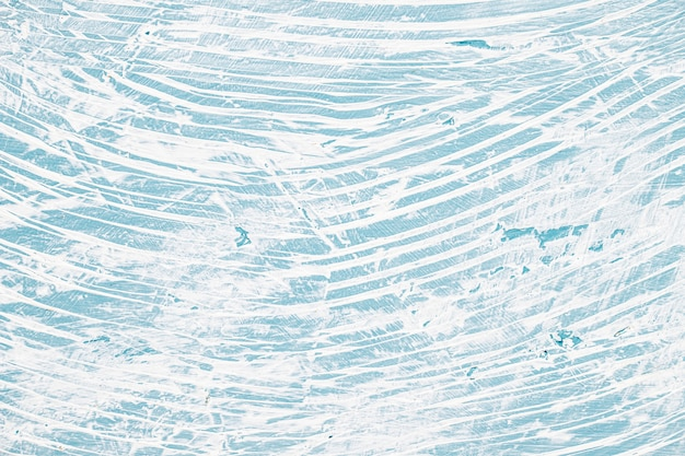 青と白の乱雑な塗装壁