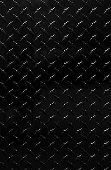 光沢のある黒い金属パターンの背景