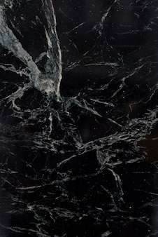 白い模様の黒い大理石