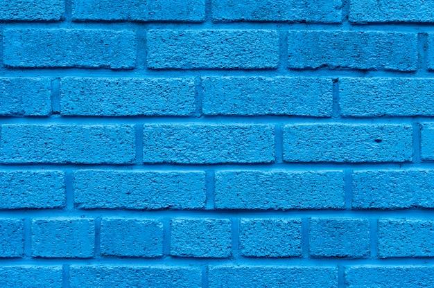 青いレンガ壁の背景