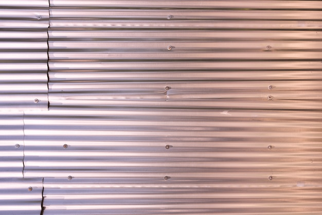 金属パネルの壁の背景