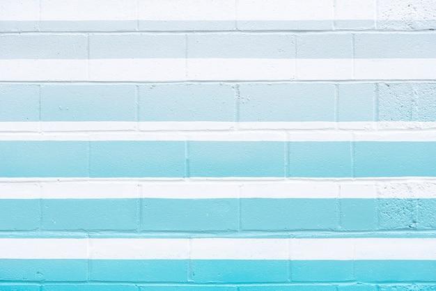青い線で抽象的なレンガの壁