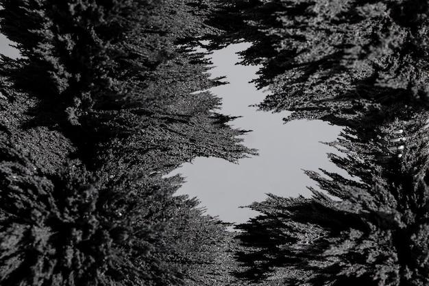 磁気金属シェービング背景のクローズアップの抽象的な背景
