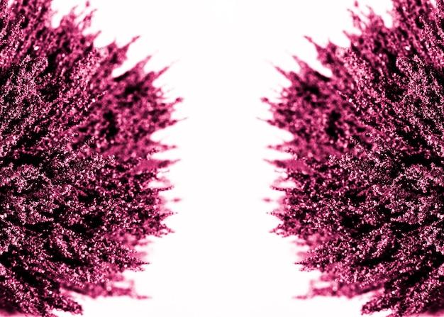 白地に紫の磁気金属シェービングの対称性