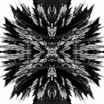 抽象的な万華鏡磁気金属シェービング背景