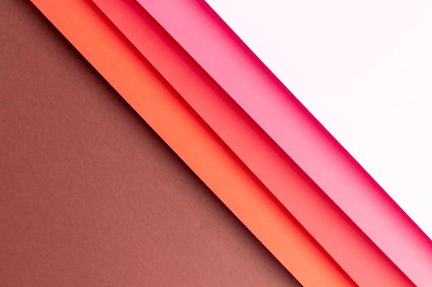 赤の色合いで作られたフラットレイアウトパターン