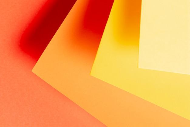暖かい色のクローズアップのさまざまな色合いで作られた平面図パターン