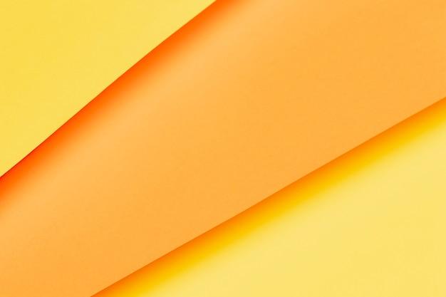 オレンジ色の紙のクローズアップのさまざまな色合い