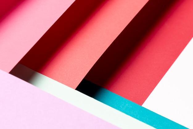 異なる色のトップビューパターン