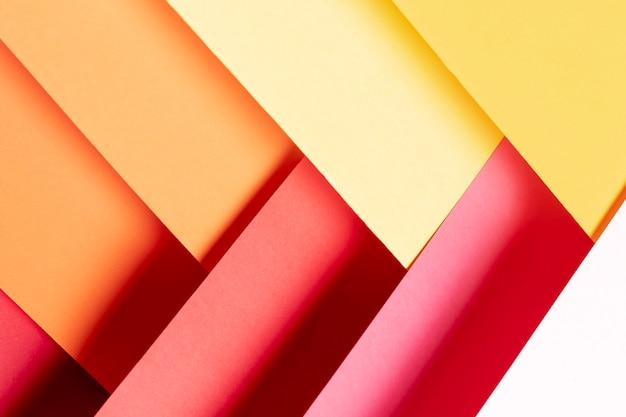 暖かい色パターンのクローズアップ