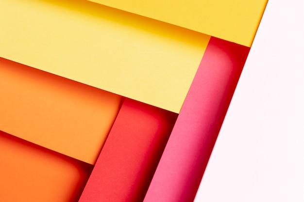 トップビュー暖かい色パターンのクローズアップ