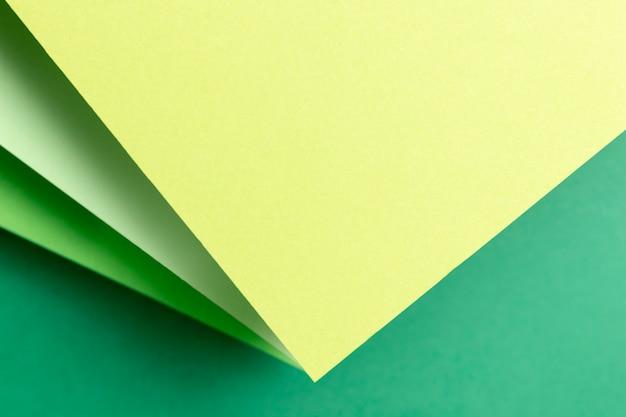 緑の色合いのトップビューパターン