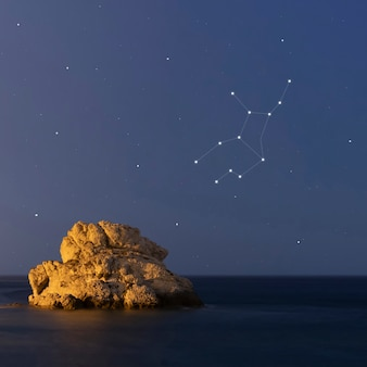 Созвездие девы в прекрасную звездную ночь