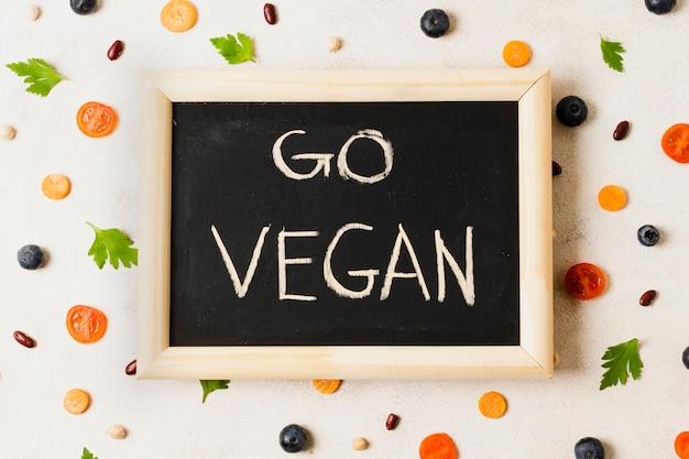 健康食品とフラットレイアウトフレーム