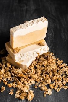 Крупный план натуральное домашнее мыло