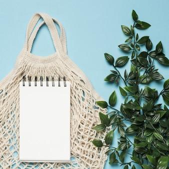 Экологичная сумка с макетом для блокнота