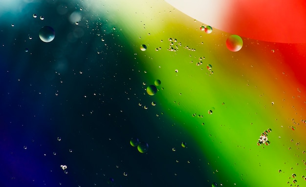 液滴とグラデーションのカラフルな背景