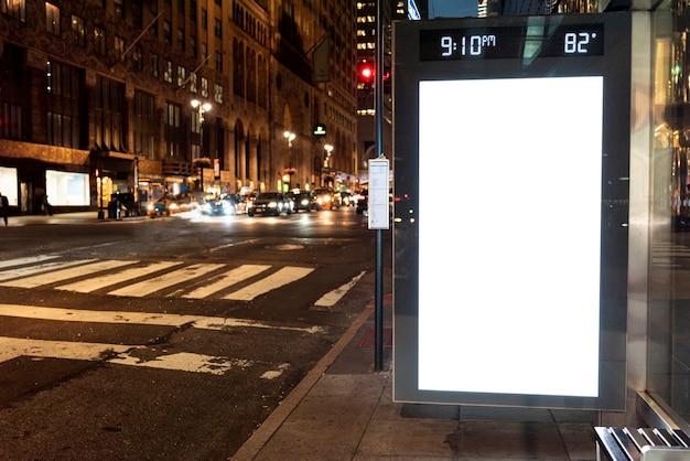 Макет рекламного щита на автобусной остановке