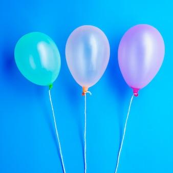 Вид сверху на день рождения воздушные шары