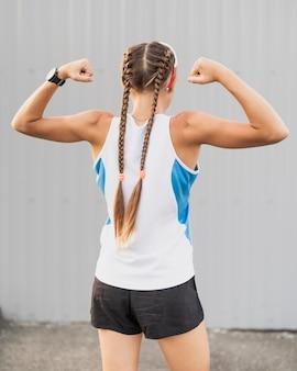若いスポーツ筋肉の結果