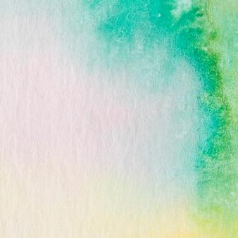 水彩インクの背景に抽象的なブルーフレーム
