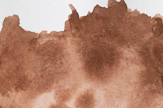 Кофейное пятно ручной работы в технике акварели