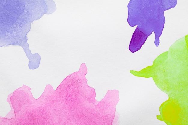 カラフルな色合いの手描きの汚れ