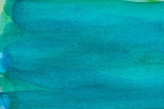 水色の青い抽象的な水彩画マクロテクスチャ背景