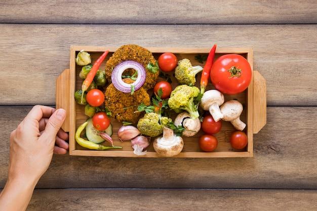 野菜料理の平面図配置