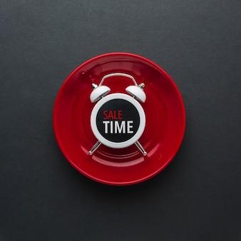 フラットレイアウトの目覚まし時計を割引します。