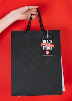 Сумка для покупок с черным знаком фридья
