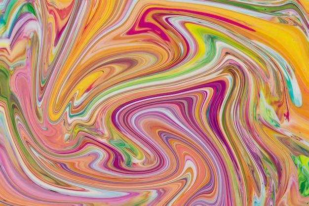Многоцветный красочный фон в акриловой заливке