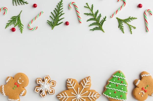 コピースペースでクリスマスの装飾