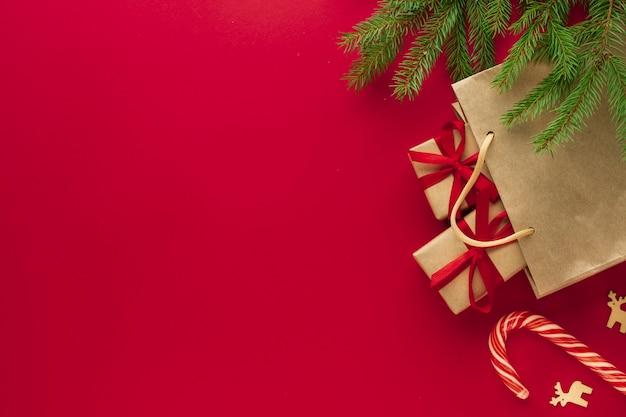 コピースペースのクリスマスコンセプト