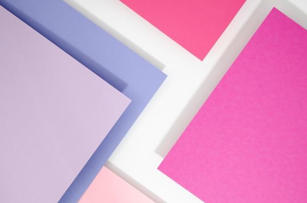 Стек случайных прямоугольников, парящих в пространстве на плоской поверхности