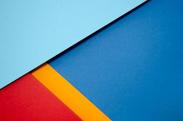 カラフルなコピースペースの最小限の幾何学的形状と線