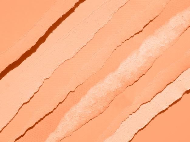 カラーペーパーと抽象的な構成のサーモンの色合い