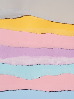 Разнообразие в разорванных абстрактных бумажных линиях