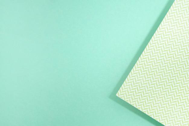 青いコピースペースポリゴン紙デザイン