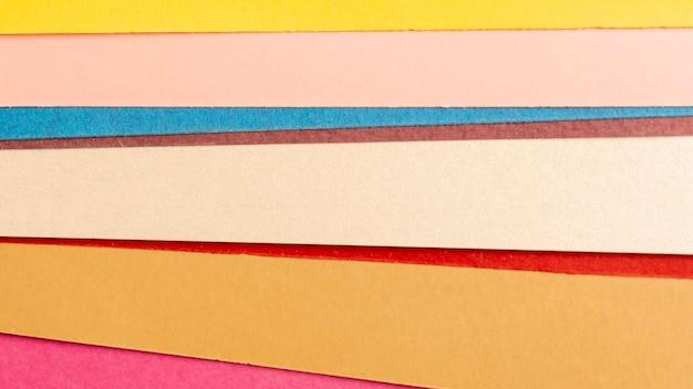 Пакет из разноцветных картонных листов