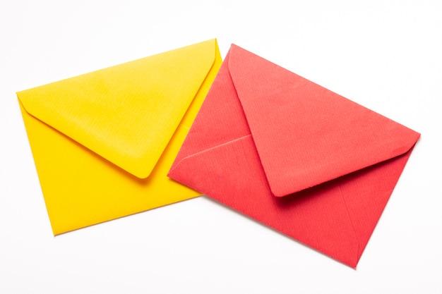 カラフルな封筒のセット